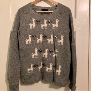 J. Crew Llama Gem Sweater